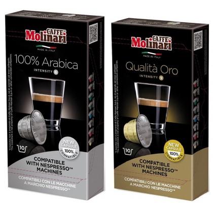 Caffe Molinari Karışık Nespresso Uyumlu Kapsül Kahve 100 kapsül