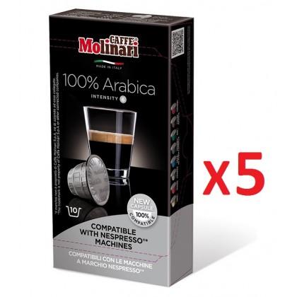 Caffe Molinari Nespresso Uyumlu Kapsül Kahve Arabica 50 kapsül