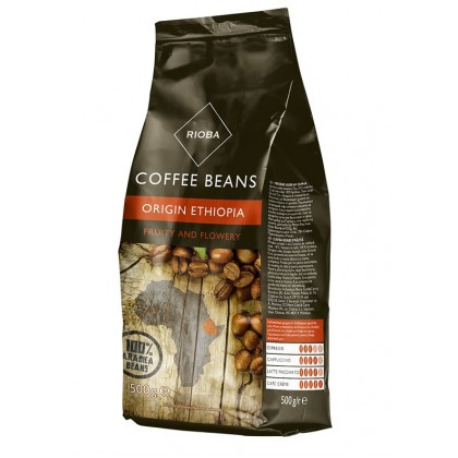 Rioba Etiyopya Çekirdek Kahve 500g Toptan 10lu Koli